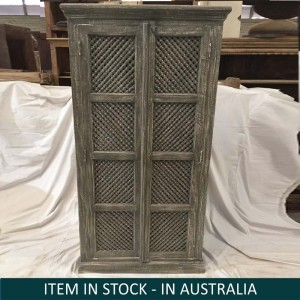 Indian Solid Wood Cupboard Cabinet Green