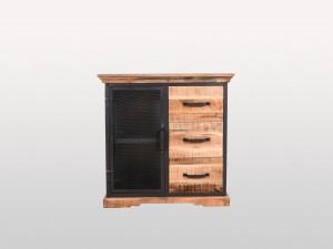 Metal Factory Industrial Indian Solid Wood LENOX II Buffet Sideboard