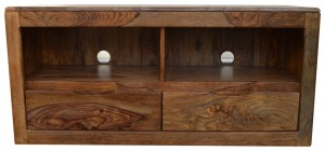 MADE TO ORDER Indian Solid Wood TV Unit Natural 120x40x55 cm