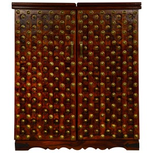 Mogra Antique Brass Work Bar Cabinet Brass Work Big