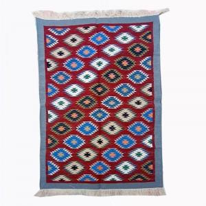 Kilim Wool Handwoven Cotton Dhurrie Durry Rug Jute Floor Covering Pattern 33