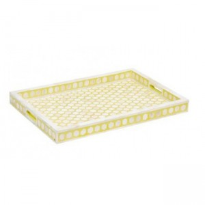 Maaya Bone Inlay Serving Tray - Floral Design