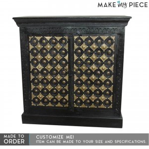 Brasswork solid wood Chocolate brown Sideboard