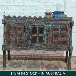 Rustic Indian Antique Solid Wooden Damchiya 110x54x88 cm