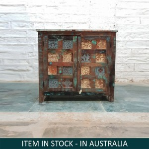 Aspen Reclaimed Wood Small Cabinet With 2 Doors