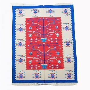 Kilim Wool Handwoven Cotton Dhurrie Durry Rug Jute Floor Covering Pattern 3