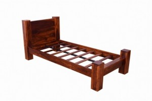 Boston Contemporary Solid Wooden Bed with Headboard