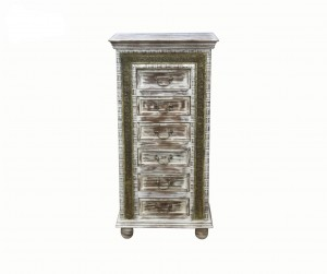 MADE TO ORDER Maharaja Wooden Chest of 6 Drawers 60x40x120 cm