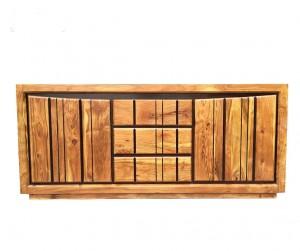 Shutter Indian Solid Wood Buffet Cabinet Sideboard Honey  D 45 x W 200 x H 86 Cm