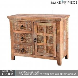 Block Print Reclaimed boat wood Sideboard Small