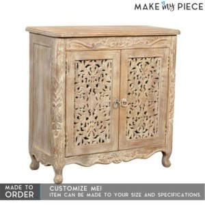 Jali Indian french 2 door sideboard Whitewash