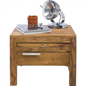 Boston Silver Contemporary Solid Wood Bedside Bed Side Table 50x50x50cm