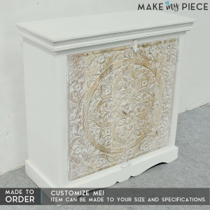 Paris Carved Sideboard Small Cabinet White