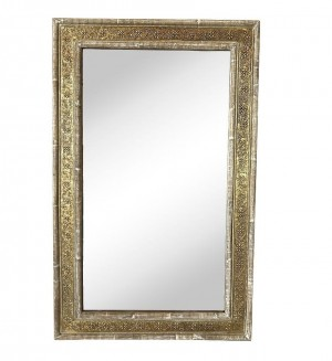 MADE TO ORDER Maharaja Carved Indian Wooden Frame With Mirror 100x5x160 cm