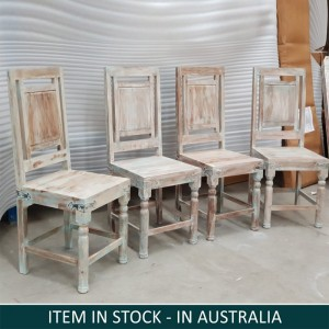 Solid Sheesham Wood Seating Chair Set of 4
