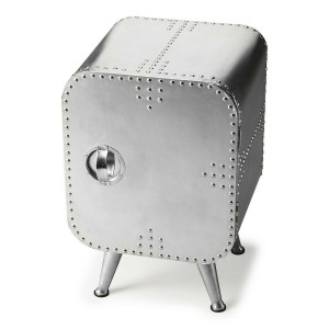 Aviator Aluminium Aviation rivet detail unusual 1 Door Cabinet Chest