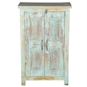 Rustica Indian Solid Wood 2 Door Storage Cabinet
