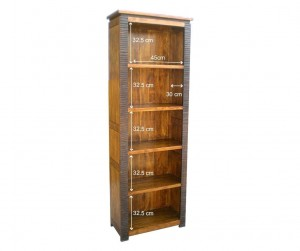 MADE TO ORDER Indian Lyon Wooden Bookshelf Bookcase 70x35x200 cm
