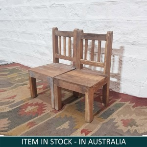 Solid Indian Wooden Seating Kids Chairs Natural B