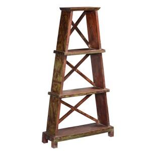 Eifel Tower 3 Open Shelf Rustic Reclaimed Wood Bookcase