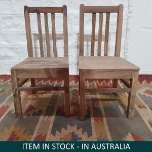 Solid Indian Wooden Seating Kids Chairs Natural C