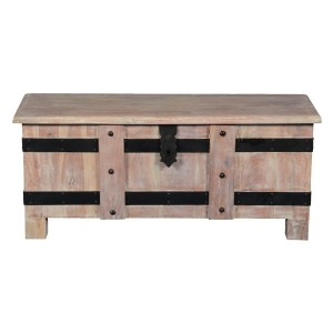Cromer Indian Solid Wood Standing Coffee Table Chest