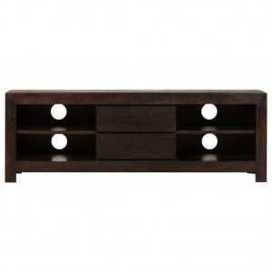 AVALON Solid wood 2Drawer & 4Shelf Tv Unit Black