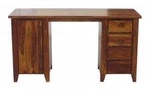 Boston Zen Contemporary Solid Wooden Study Desk Computer Table Natural 150x60x80 CM