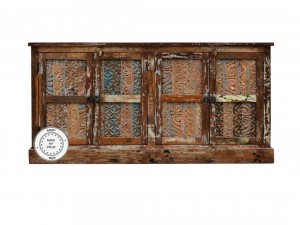 Indian Hand Carved Solid Wood large Sideboard