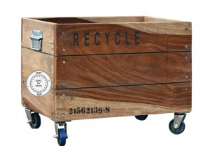 Solid Industrial Wooden Box of Recycle Containers