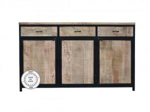 Industrial Barn Indian Solid Wood Buffet Sideboard Natural