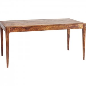 Boston Taper Contemporary Solid Wood Rectangular Dining Table Natural 1.6m