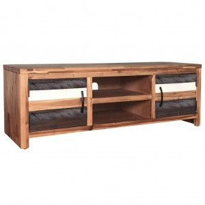 AVALON Solid wood 2Drawer & 2Shelf Tv Unit Multi Colour