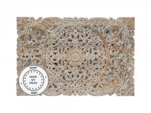 Dynasty Oriental Furniture Decorative Panel Saffron Whitewash 81X122