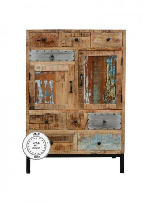 Lava Industrial Indian Solid Wood Chest of drawers Natural