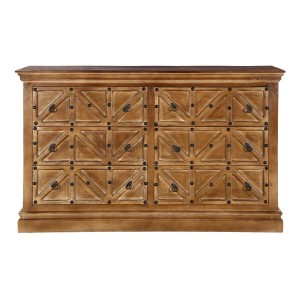 Cromer Farmhouse Rustic Solid Wood 6 Drawer Double Dresser