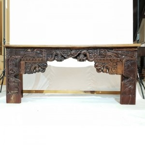 Antique panel Solid wood Hand Carved Hall Table Console  191x51x85cm