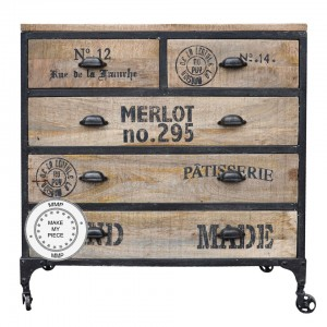 Earth Industrial Indian Solid Wood Chest Of Drawers Natural