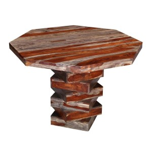 Fully Handcrafted Rosewood Pedestal Dining Bar Table