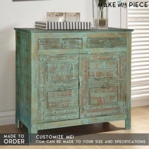 Antique Old Door Solid wood Sideboard Rustic Green