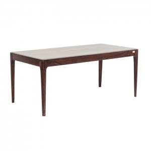 Boston Taper Contemporary Solid Wood Rectangular Dining Table Walnut 160 cm