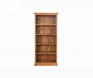 Sheesham Indian Style Open Bookcase With 5 Shelves Natural
