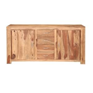 Cromer Indian Solid Wood 4 Drawer Large Sideboard Cabinet