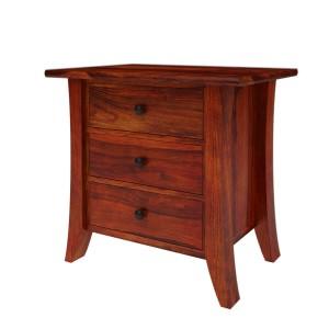 Georgia Modern Solid Wood 3 Drawer Bedside Nightstand