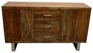 Cromer Indian Solid Wood Sideboard Natural  D 40x W 145 x H 85 Cm