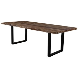 Copenhagen Teak Wood Live Edge Large Dining Table