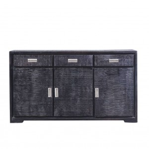 Cromer Indian Reclaimed Wood 3 Drawers Large Buffet Sideboard