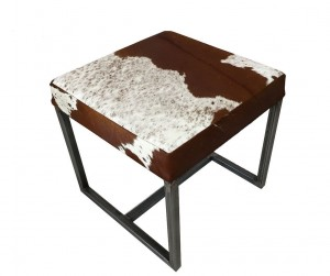 Metal Stool made with  leather seat