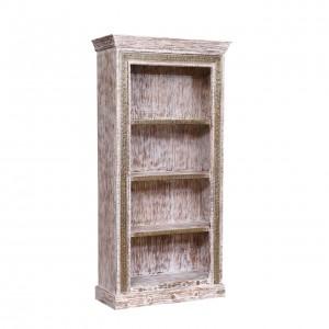 Amberg Distressed Rustic Reclaimed Wood 4 Shelf Standard Bookcase