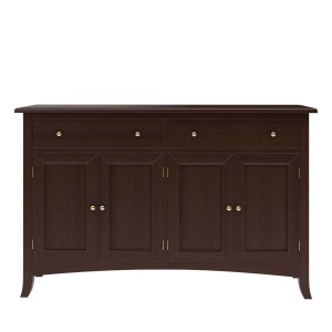 Cromer Solid Mahogany Wood 2 Drawer Large Sideboard Cabinet